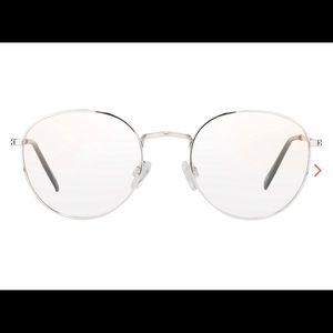 Silver framed BoHo blue light glasses NIP